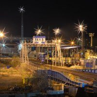 В ночном порту :: Marina Timoveewa