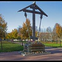 Памятный крест на Соборной площади.(Пушкин) :: Александр Лейкум