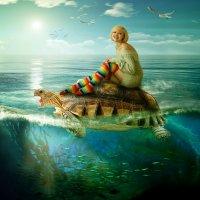 Покатай меня ,большая черепаха! :: Ирина Полунина