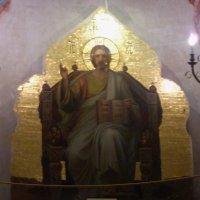 """Мозаичная икона """"Спас на троне"""" с мавзолея Дмитрия Пожарского :: Galina Leskova"""
