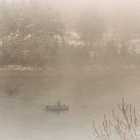 Про одинокого рыбака в тумане... :: galina tihonova