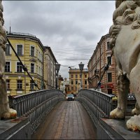Львиный мост, Санкт-Петербург :: Дмитрий Анцыферов