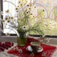 Ромашковый чай с малиной :: galina tihonova