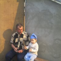 Дед и внук. Диалог. :: Михаил Артемьев