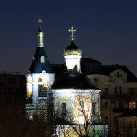Церковь Илии Пророка в Обыденском переулке ночью :: Игорь