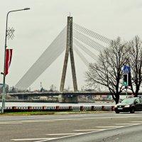 Вантовый мост через Даугаву в Риге :: Олег Попков