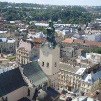 Вид на город Львов с ратуши :: Яна Чепик