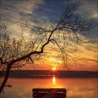 Лодка в закате :: Елена Ерошевич