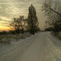 Зимний закат. :: Сергей Касимов