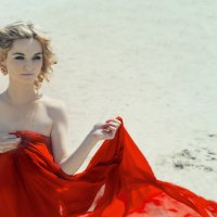 Девушка в красном :: Iryna Chorna