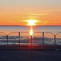 Северодвинск. Закат на Белом море :: Владимир Шибинский