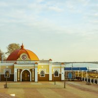"Кострома. Ресторан ""белое солнце"" на Волге. :: Валерий Тумбочкин"