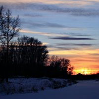 В морозной свежести закат... :: Евгений Юрков