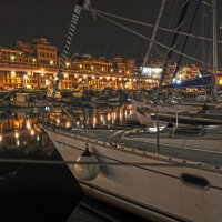Ночная стоянка, Генуя, школа шкиперов. :: Serge Prakhov