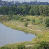 Остров Юности с моста через Ангару :: Андрей Макурин
