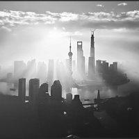 Шанхай на рассвете. :: Екатерина Цзян