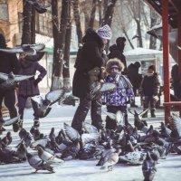 Как приятно наблюдать за теми кто учит своих детей любить окружающий нас мир... :: Юлия Пахомова