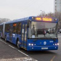 Автобус в фирменном окрасе наземного транспорта Москвы :: MaksimKa -