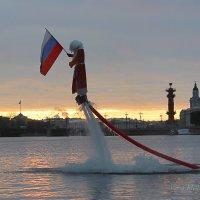 Промокший, но не побеждённый Дед Мороз! :: Вера Моисеева