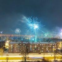 Первые минуты 2015 года в Иркутске :: Алексей Белик