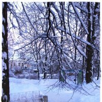 Скамейка для Снегурочки :: Самохвалова Зинаида