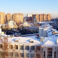 Больница - монастырь - жилой массив :: Владимир Болдырев
