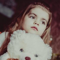 Малышка с мишкой) :: Alena Al'eva