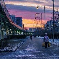 Закат в Южном Бутово :: Алексей Окунеев