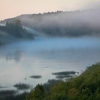 Туманопад на реке :: Валентин Котляров