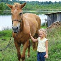 Я люблю свою лошадку. :: Галина .