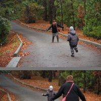 1.Бабушка - лови, я бегу!  2. А теперь внучек, бегу я! :: Larisa Gavlovskaya