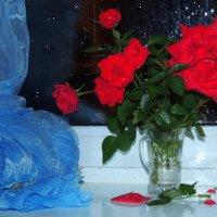 Окно....Ночь.....Розы..... :: Павлова Татьяна Павлова