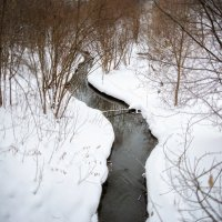 Зимняя речка :: Андрей Качин