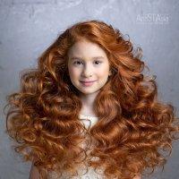 Рыжие, медовые кудряшки - сколько света, солнца, теплоты! :: Анастасия Костакова