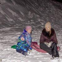 Внучата на горнолыжке. :: александр мак mak