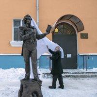 Открытие памятника литературному герою Козьме Пруткову :: Алёна Михеева