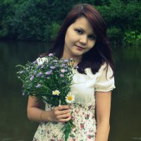 girl with flowers :: Юлия Красноперова