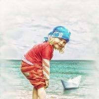 Детство,море и кораблик) :: Ирина Полунина