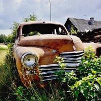 Ретро авто в поселке Ис :: Борис Соловьев