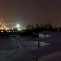 Зима, ночь, завод... :: Сергей Щелкунов