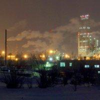 Зима, ночь, завод 2. :: Сергей Щелкунов