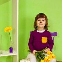 """Детская фотосъемка """"Весна"""" :: Ольга Журавлева"""