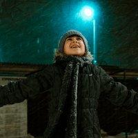 Радость ночного снега. :: Артемий Кошелев