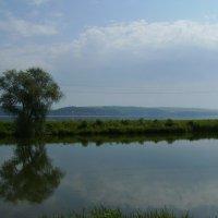 Вид  на  речной  канал  и  Бурштынское  море :: Андрей  Васильевич Коляскин