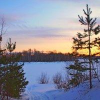вечер на озере :: Сергей Швечков