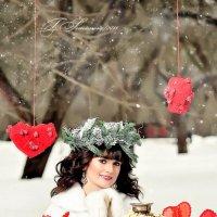 Девушка с самоваром зимой :: Татьяна Семёнова