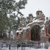 Развалины храма свт. Николая Чудотворца на Вревском кладбище :: Елена Павлова (Смолова)