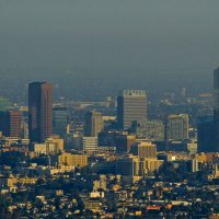 центр Лос Анджелеса вечером с обсерватории Гриффит :: Алексей Меринов