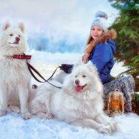 Девочка с собаками :: Оксана Артюхова