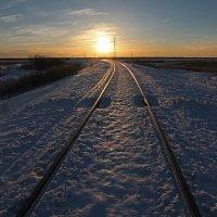 Северодвинск. Железная дорога. К солнцу :: Владимир Шибинский
